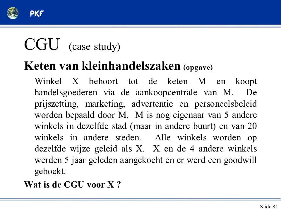CGU (case study) Keten van kleinhandelszaken (opgave)