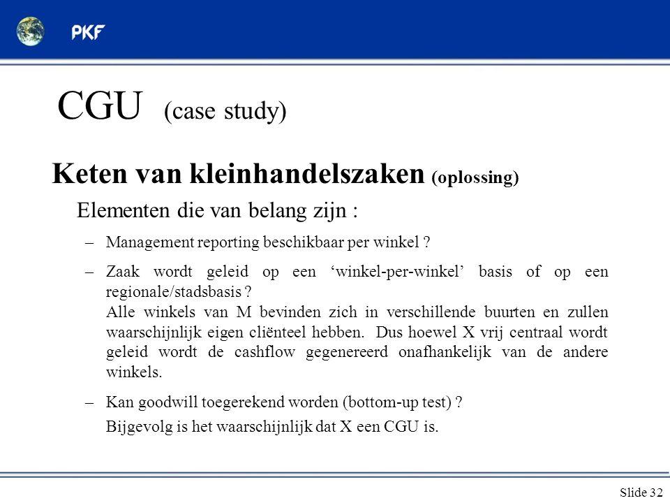 CGU (case study) Keten van kleinhandelszaken (oplossing)
