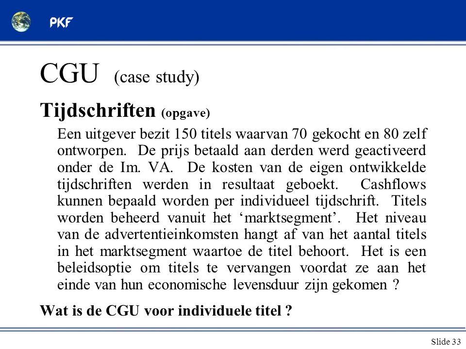 CGU (case study) Tijdschriften (opgave)