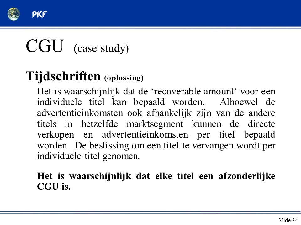 CGU (case study) Tijdschriften (oplossing)