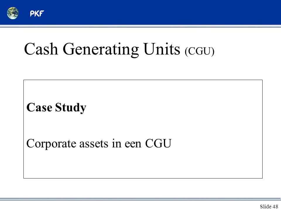 Cash Generating Units (CGU)