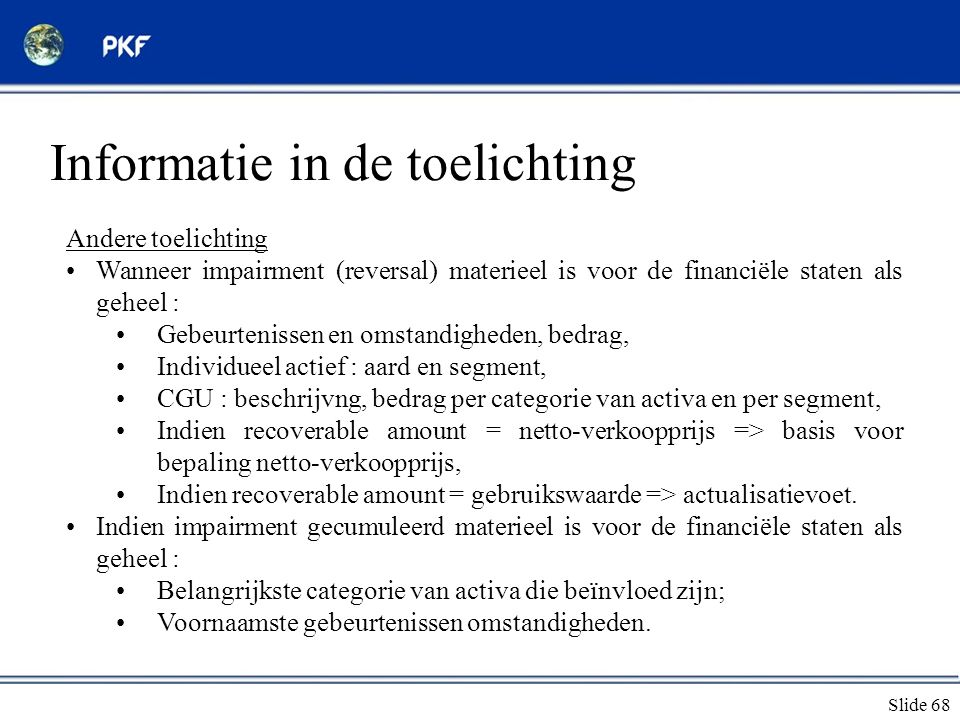 Informatie in de toelichting