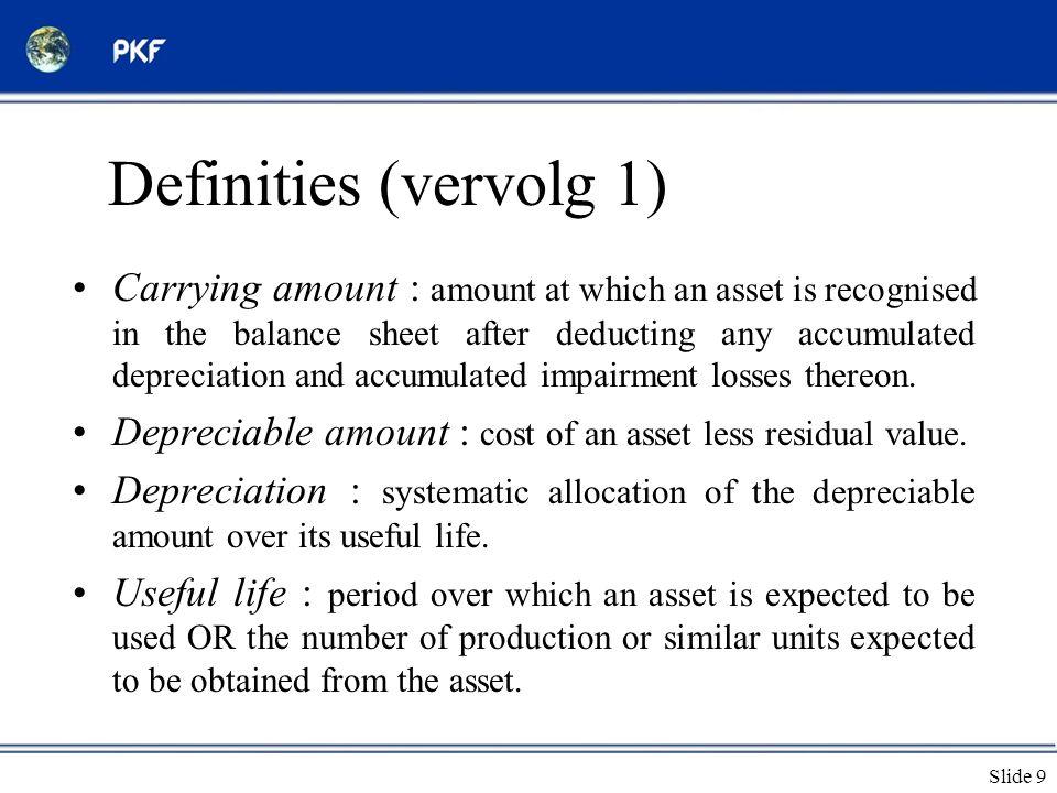 Definities (vervolg 1)