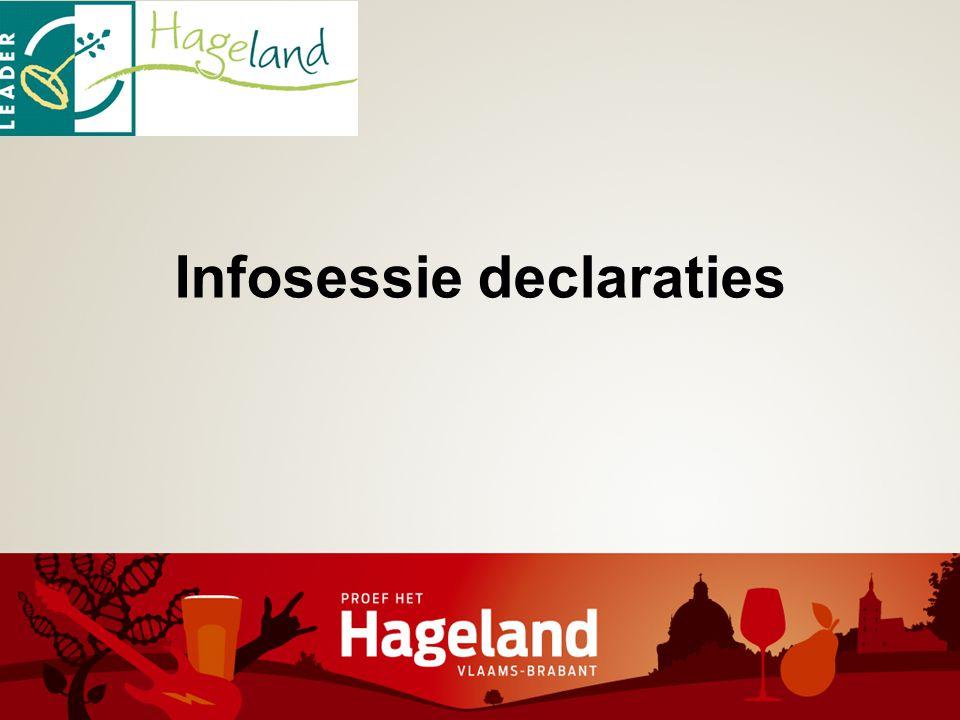 Infosessie declaraties