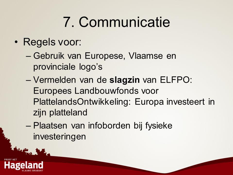 7. Communicatie Regels voor: