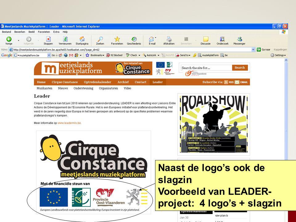Naast de logo's ook de slagzin