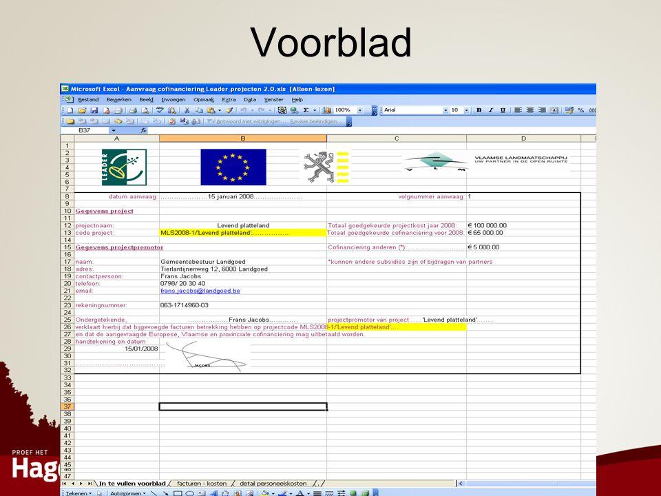 Voorblad Voorblad: Gegevens project en promotor, handtekening dus verder niet bij blijven stilstaan