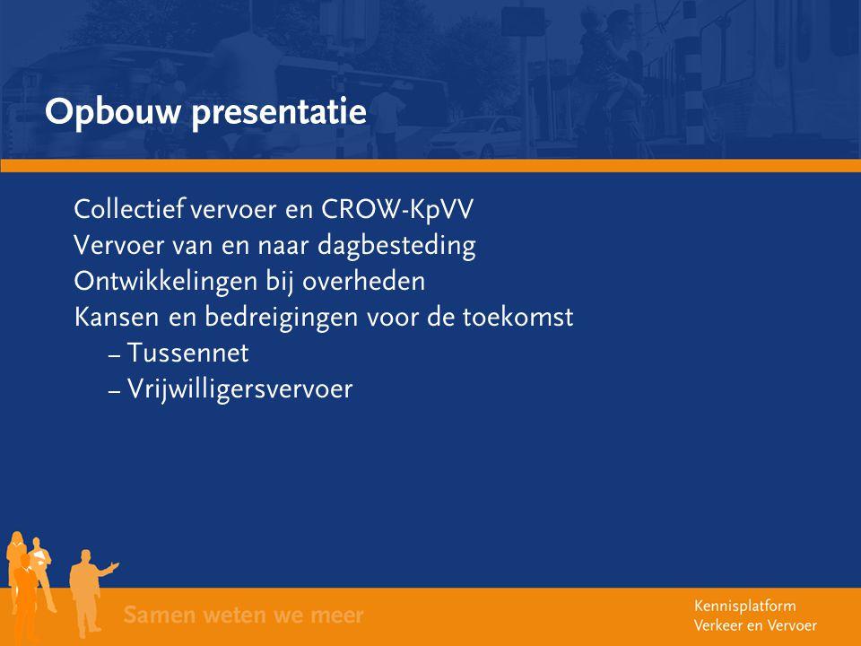 Opbouw presentatie Collectief vervoer en CROW-KpVV