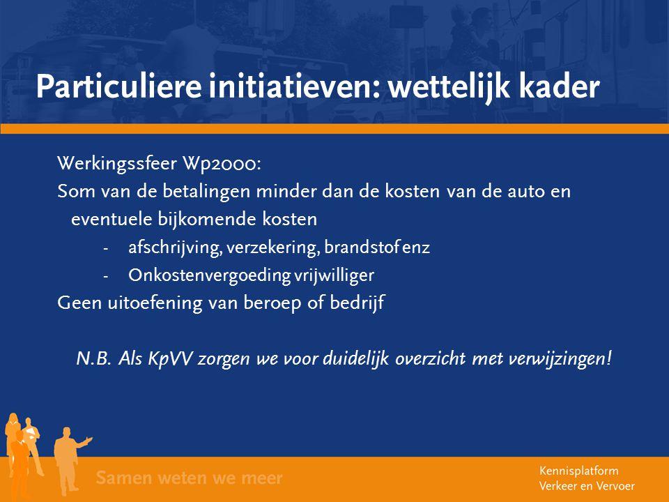 Particuliere initiatieven: wettelijk kader