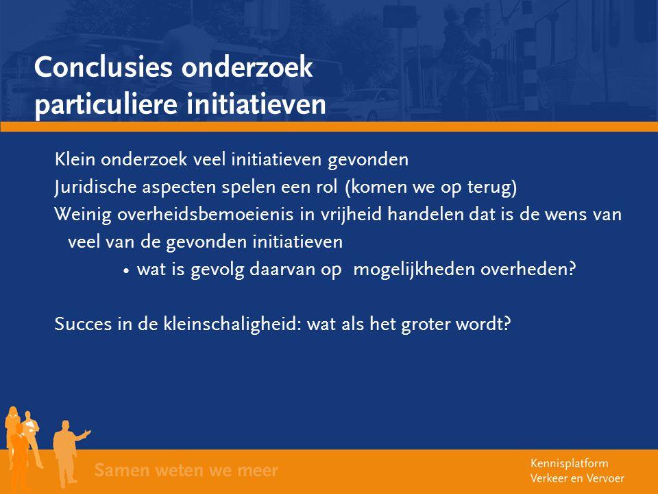 Conclusies onderzoek particuliere initiatieven