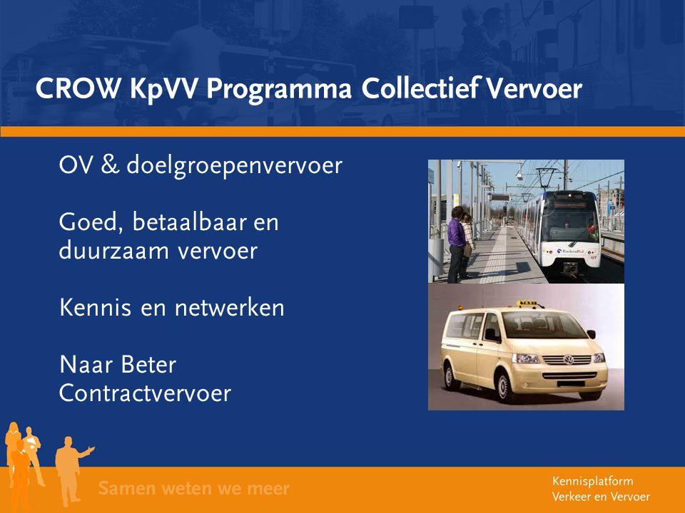 CROW KpVV Programma Collectief Vervoer