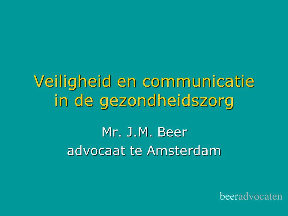 Veiligheid en communicatie in de gezondheidszorg