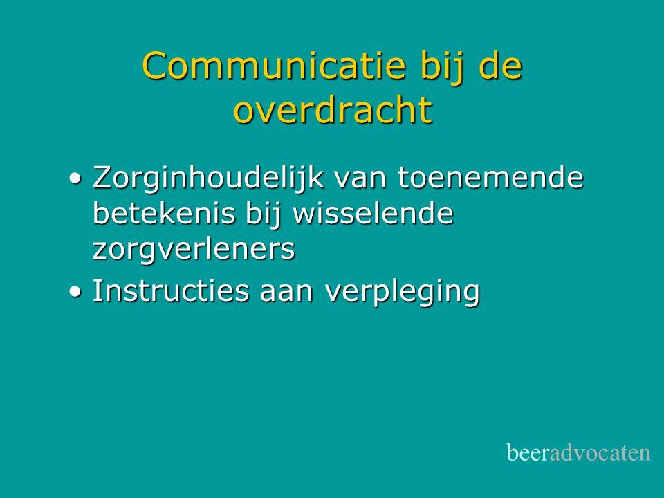 Communicatie bij de overdracht