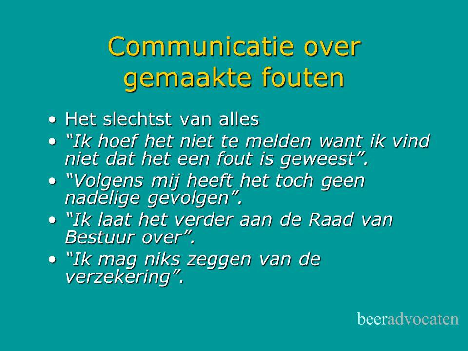 Communicatie over gemaakte fouten