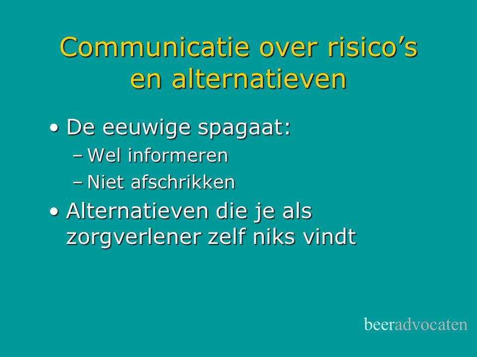 Communicatie over risico's en alternatieven