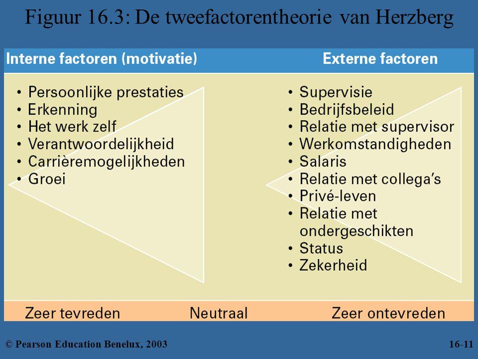 Figuur 16.3: De tweefactorentheorie van Herzberg