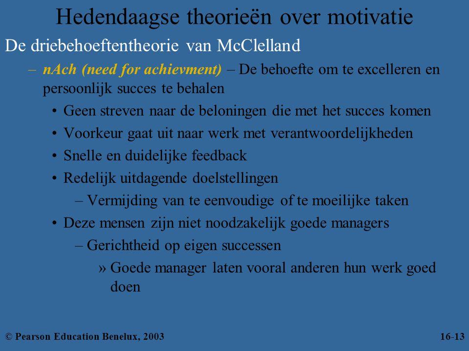Hedendaagse theorieën over motivatie