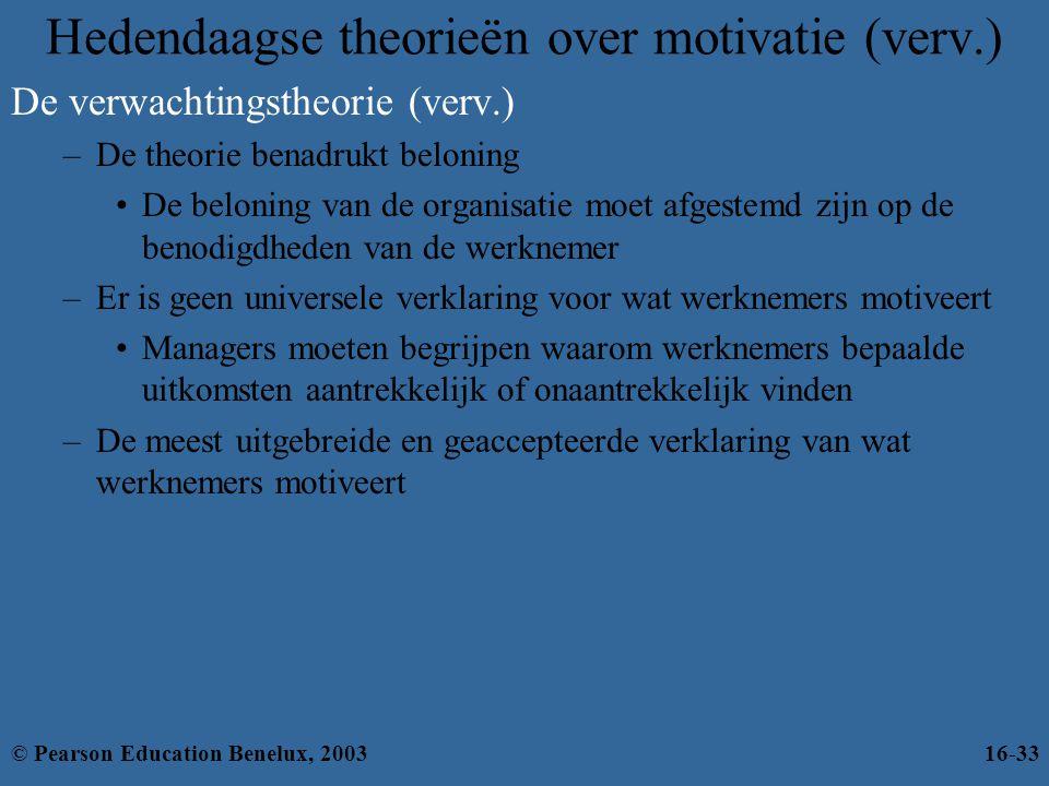 Hedendaagse theorieën over motivatie (verv.)