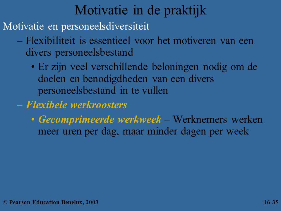 Motivatie in de praktijk