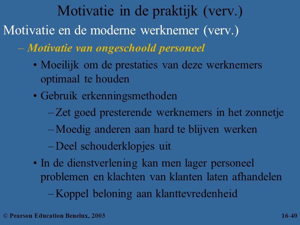Motivatie in de praktijk (verv.)