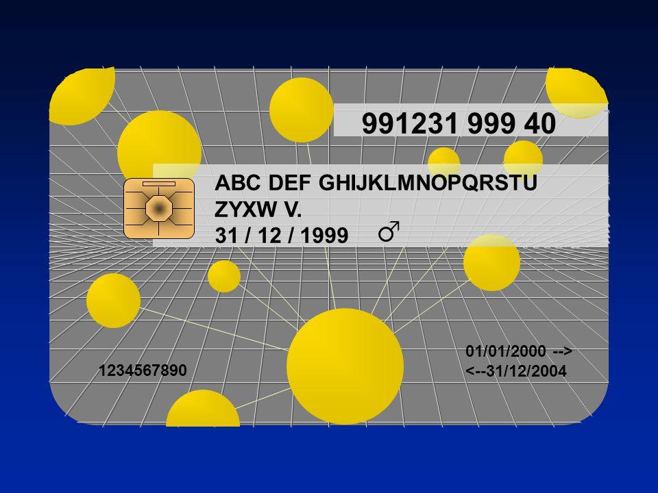 991231 999 40 ABC DEF GHIJKLMNOPQRSTU ZYXW V. 31 / 12 / 1999 