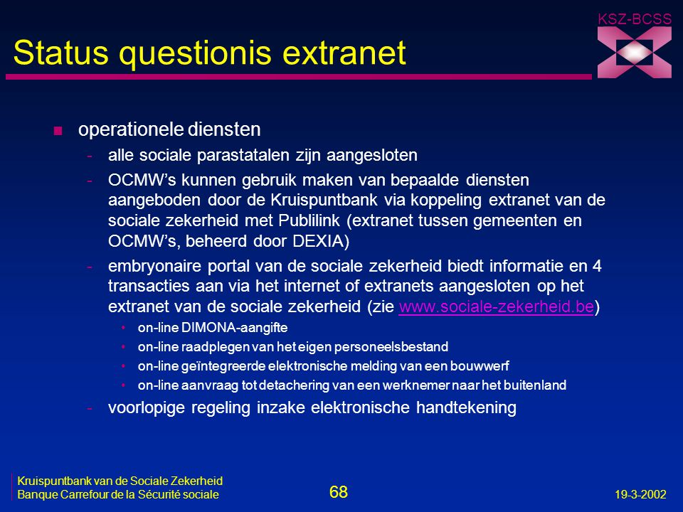 Status questionis extranet
