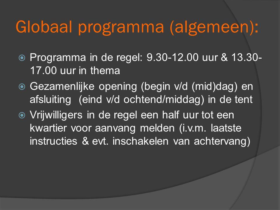 Globaal programma (algemeen):