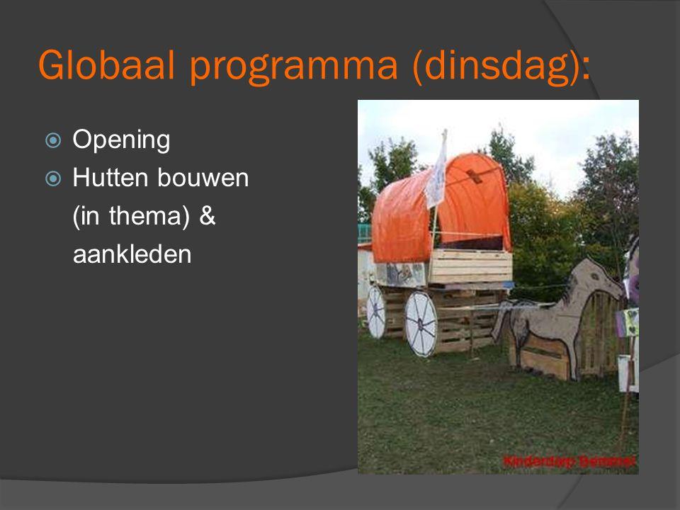 Globaal programma (dinsdag):