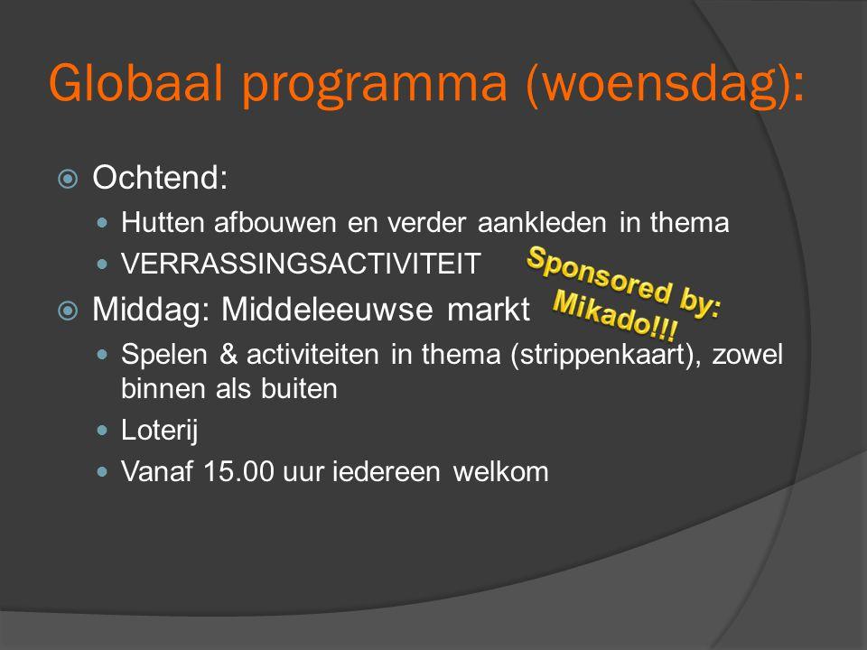 Globaal programma (woensdag):