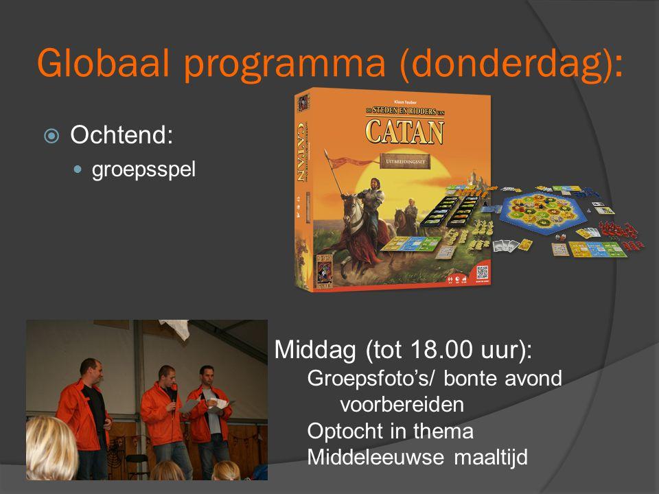 Globaal programma (donderdag):