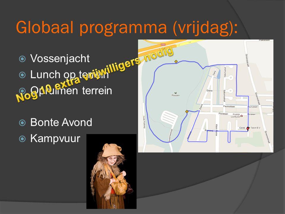 Globaal programma (vrijdag):
