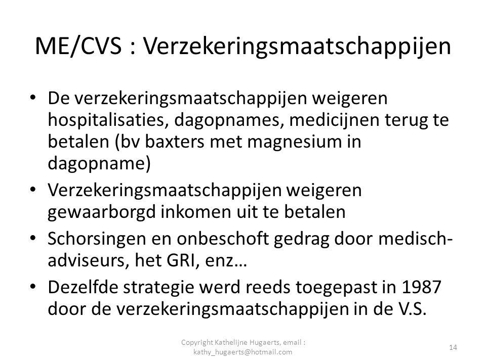 ME/CVS : Verzekeringsmaatschappijen