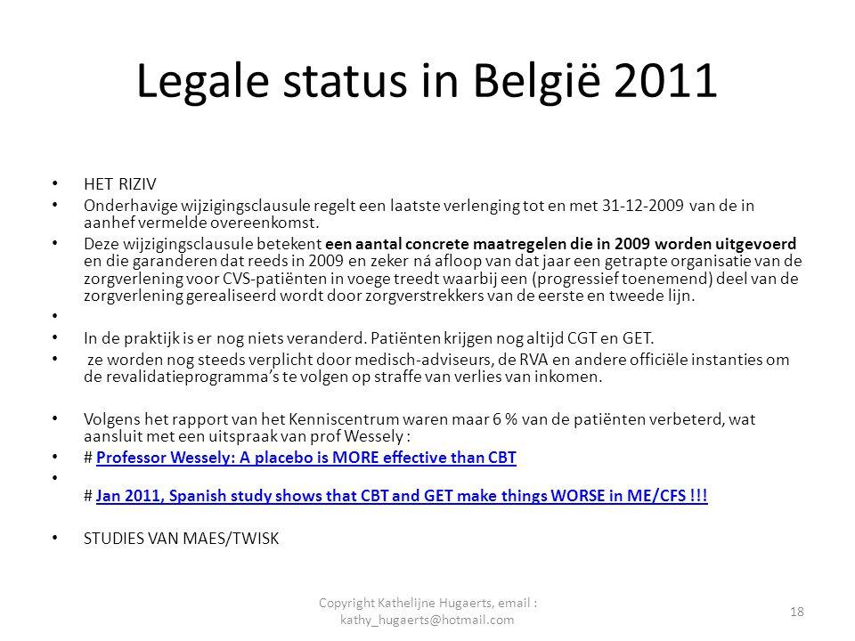 Legale status in België 2011