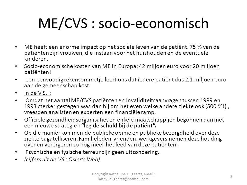 ME/CVS : socio-economisch