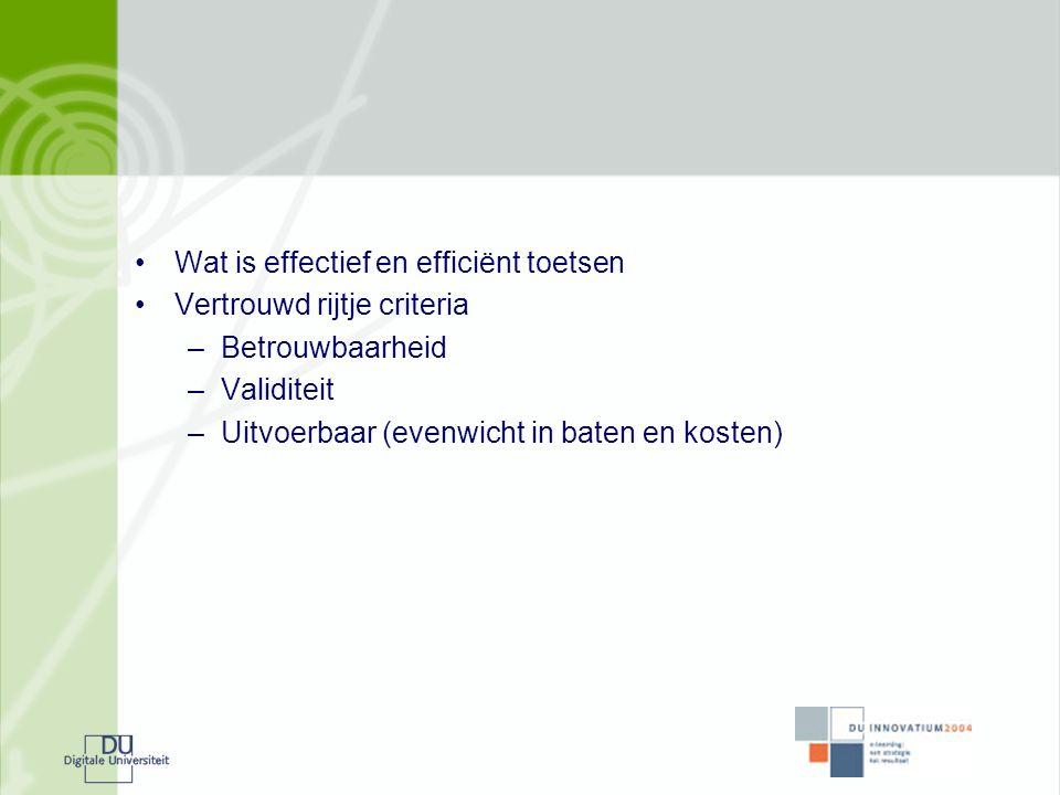 Wat is effectief en efficiënt toetsen