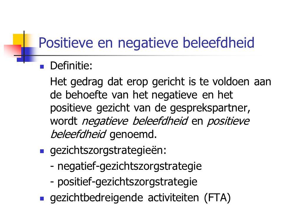 Positieve en negatieve beleefdheid