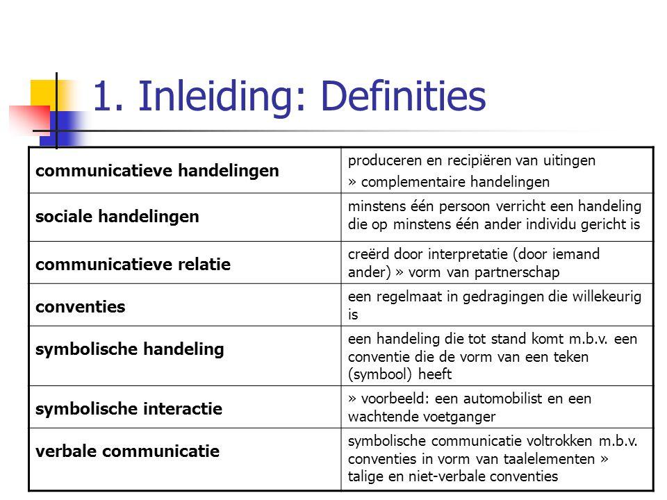 1. Inleiding: Definities