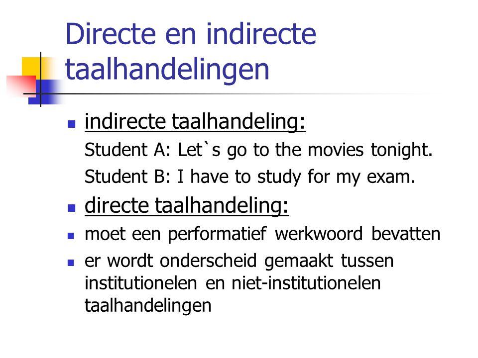Directe en indirecte taalhandelingen