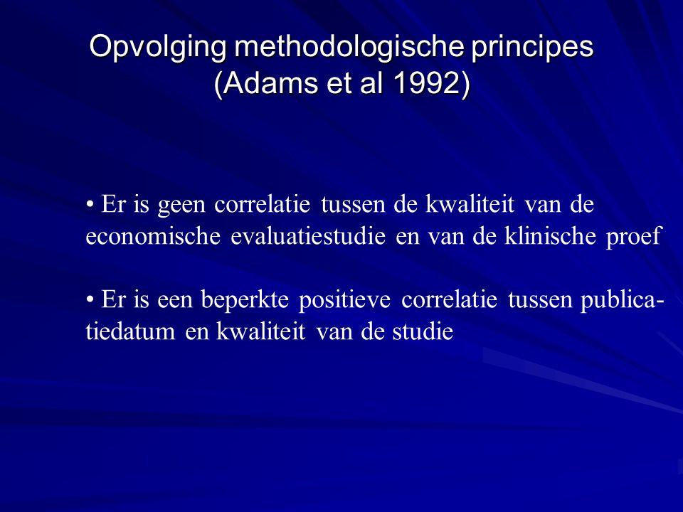 Opvolging methodologische principes (Adams et al 1992)