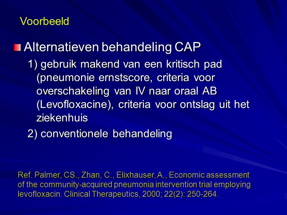 Alternatieven behandeling CAP
