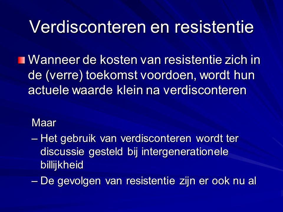 Verdisconteren en resistentie