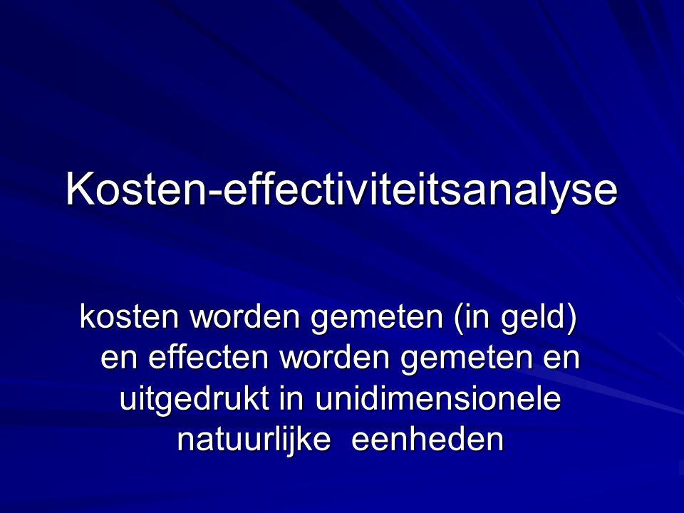 Kosten-effectiviteitsanalyse