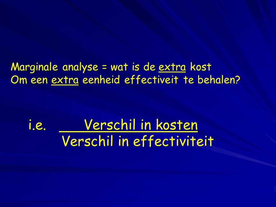 Verschil in effectiviteit