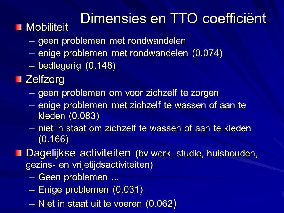 Dimensies en TTO coefficiënt
