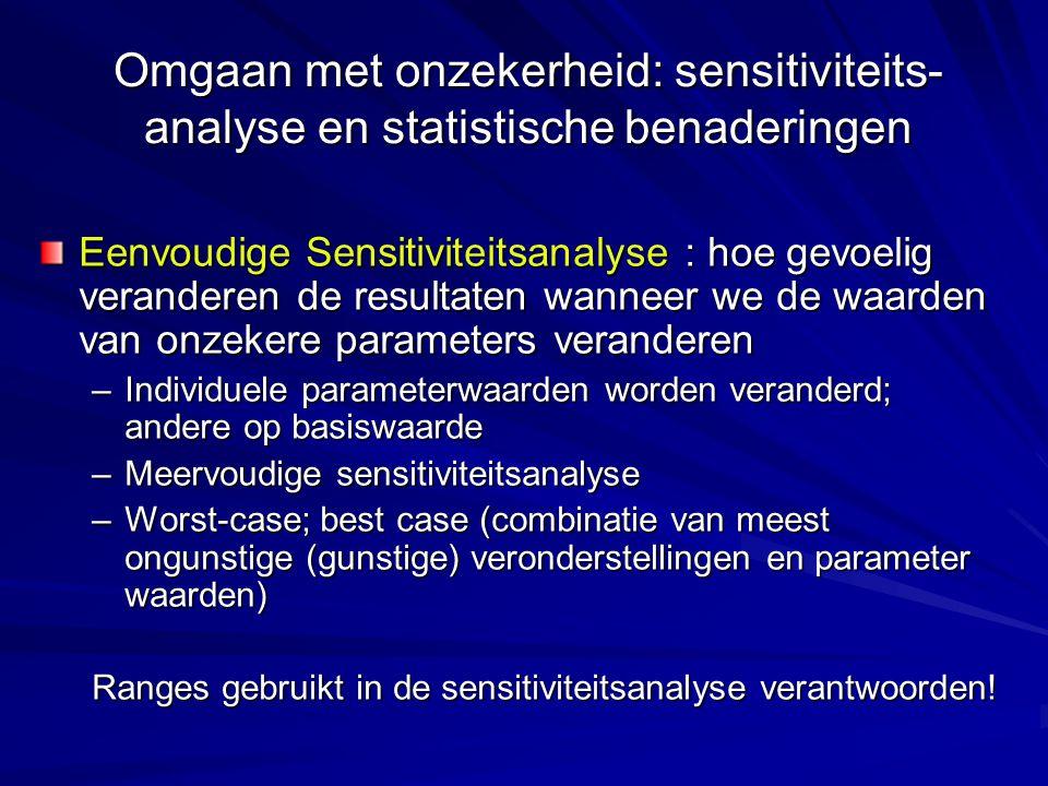 Omgaan met onzekerheid: sensitiviteits-analyse en statistische benaderingen