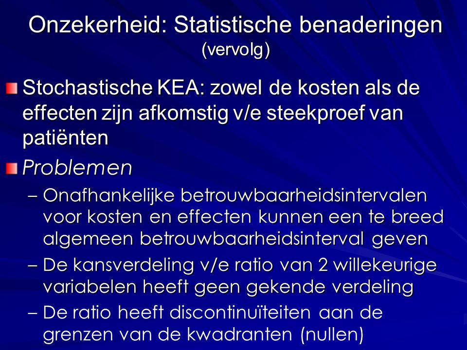 Onzekerheid: Statistische benaderingen (vervolg)