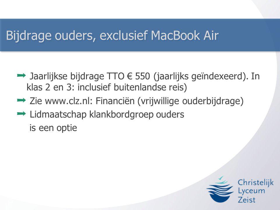 Bijdrage ouders, exclusief MacBook Air