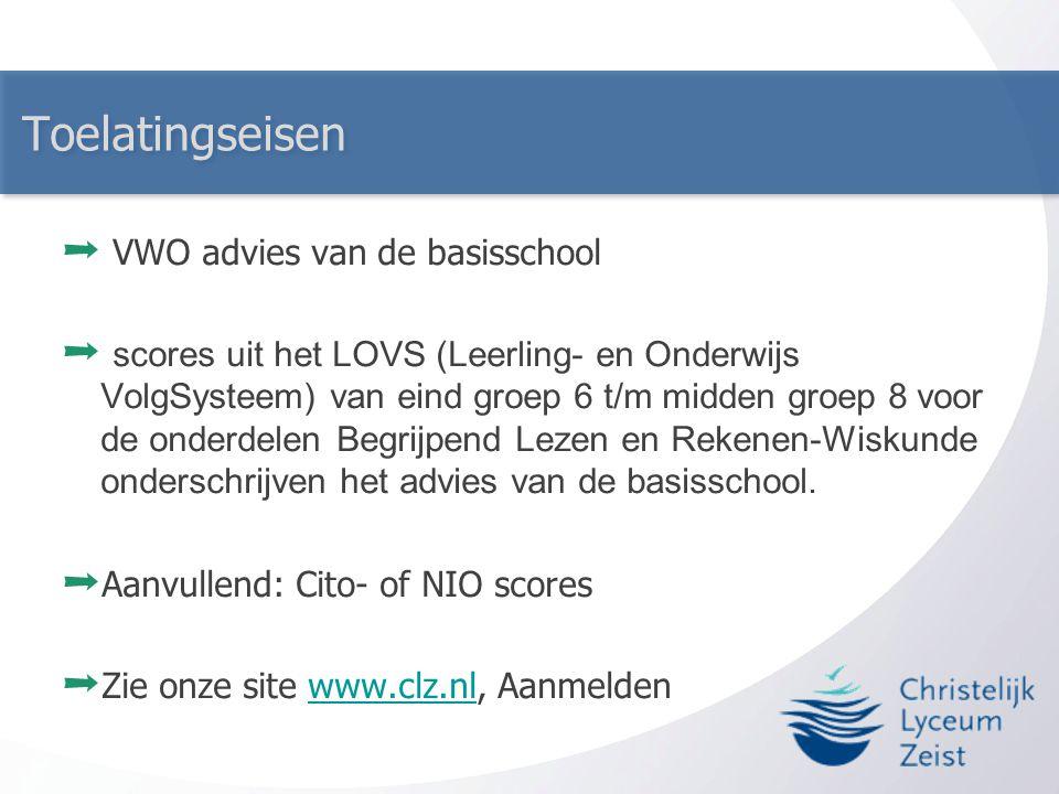 Toelatingseisen VWO advies van de basisschool