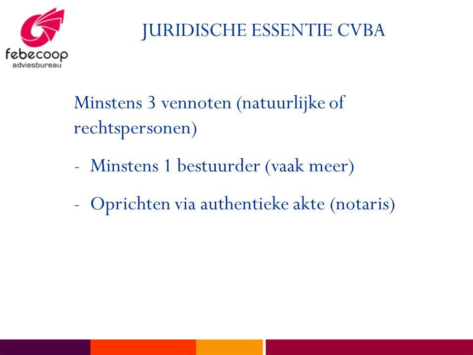 JURIDISCHE ESSENTIE CVBA