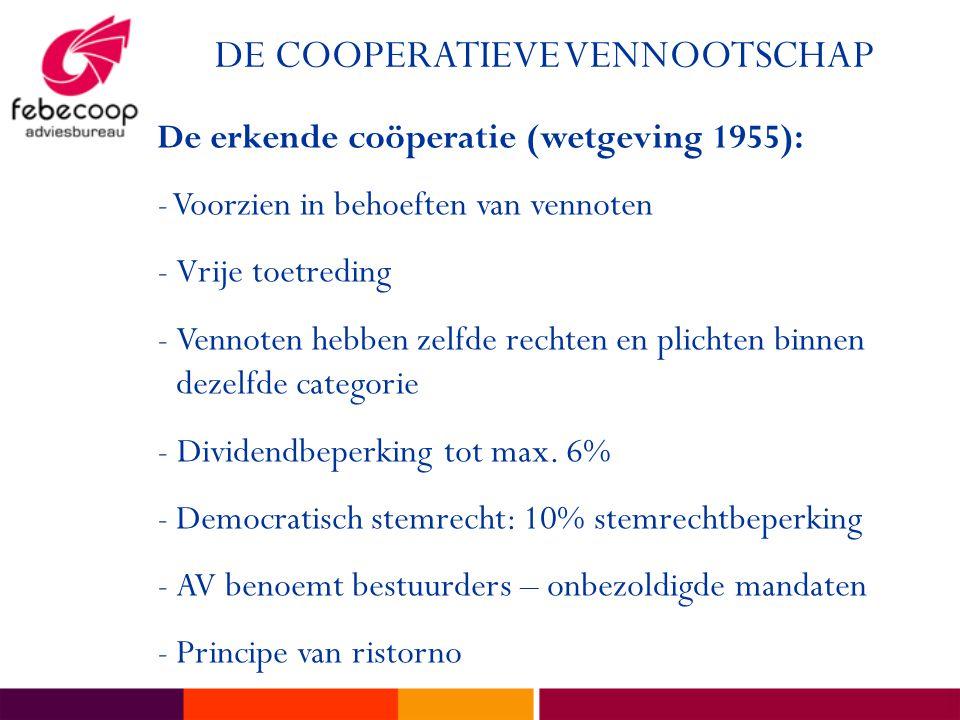 DE COOPERATIEVE VENNOOTSCHAP